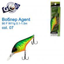 Воблер Goss Agent 90F W11g Floating 0,1-1,5g col. 07