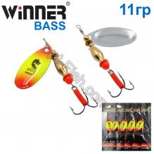Блесна Winner вертушка WP-002 BASS 11g 018# *