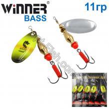 Блесна Winner вертушка WP-002 BASS 11g 022# *