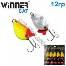 Блесна Winner колебалка TBZ-008 CAT 12g 020# *