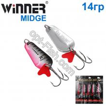 Блесна Winner колебалка W-001 MIDGE 14g 006# *