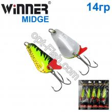 Блесна Winner колебалка W-001 MIDGE 14g 031# *