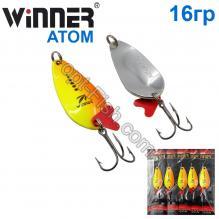 Блесна Winner колебалка W-007 ATOM 16g 018# *