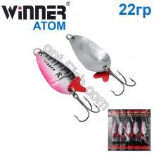 Блесна Winner колебалка W-007 ATOM 22g 006# *