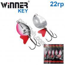 Блесна Winner колебалка W-025 KEY 22g 006# *