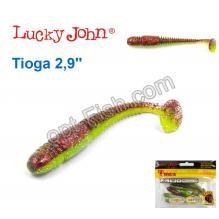 Виброхвост двухцветный 2,9 Tioga LUCKY JOHN*7 140103-T44