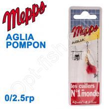 Блесна  Mepps AGLIA POMPON srebrna silver 0/2,5g