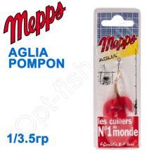 Блесна  Mepps AGLIA POMPON srebrna silver 1/3,5g