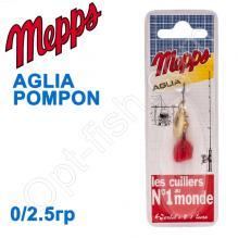 Блесна  Mepps AGLIA POMPON zlota gold 0/2,5g