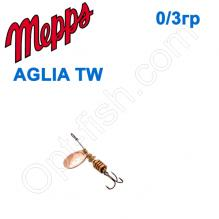 Блесна  Mepps AGLIA TW  miedz copper 0/3g