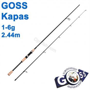 Спиннинговое удилище шт2 Goss Kapas A03-244 1-6g 2,44м * оптом недорого в Украине