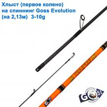 Хлыст (первое колено) на спиннинг Goss Evolution (на 2,13м) 3-10g (4,8mm)*