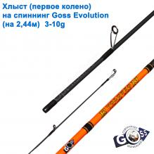 Хлыст (первое колено) на спиннинг Goss Evolution (на 2,44м) 3-10g (5,4mm)*