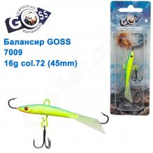 Балансир Goss 7009 16g col. 72 (45mm)
