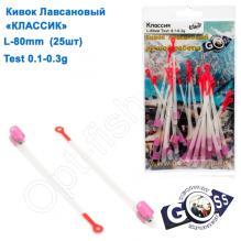 Кивок лавсановый Goss Классик K-80-145 (0,1-0,3g) (25шт)
