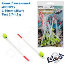 Кивок лавсановый Goss Спорт S-80-250 (0,7-1,2g) (25шт)