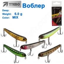 Воблер Ttebo X-DOG70 6g MIX