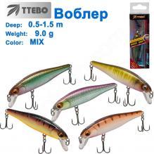 Воблер Ttebo M-LE80 (0,5-1,5m) 9g MIX