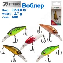 Воблер Ttebo S-KID40 (0,5-0,8m) 2.7g MIX