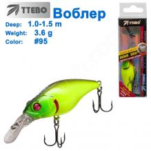 Воблер Ttebo C-AK60 (1-1,5m) 3,6g #95
