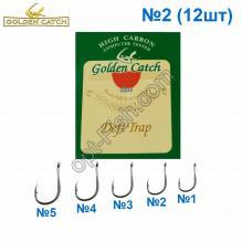 Крючок GC красный Deft Trap №2 (12шт) 5547202 *