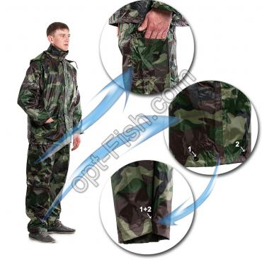 Костюм дождевик Winner камуфляж M2006-88 XL * оптом недорого в Украине