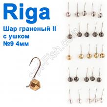 Мормышка вольф. Riga 132040 шар граненый II с ушком №9 4мм (25шт)
