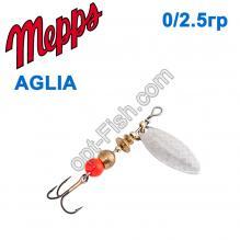 Блесна Mepps Aglia long srebrna-silver 0/2,5g