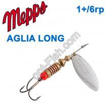 Блесна Mepps Aglia long srebrna-silver 1+/6g
