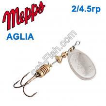 Блесна Mepps Aglia srebrna-silver 2/4,5g