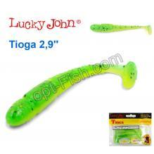 Виброхвост двухцветный 2,9 Tioga LUCKY JOHN*7 140103-T18
