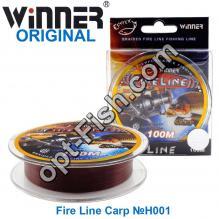 Леска Winner Original Fire Line Carp №H001 100м 0,16мм *