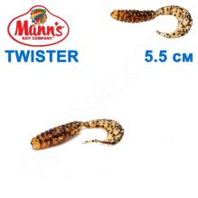Силикон Manns Twister AS-037-55мм (20шт)