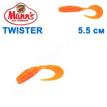 Силикон Manns Twister OR-037-55мм (20шт)
