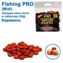 Плавающая насадка пено-тесто в таблетках fishing PRO midi 30g (Карамель)