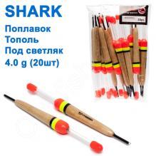 Поплавок Shark Тополь под светляк T2-40N1002L (20шт)