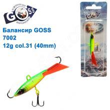 Балансир Goss 7002 12g col. 31 (40mm)