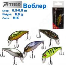Воблер Ttebo S-DAN50 (0,5-0,8m) 6g MIX