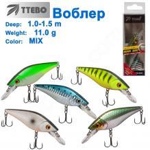 Воблер Ttebo S-WO75SR (1-1,5m) 11g MIX