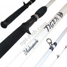 Спиннинговое удилище шт2 carbon Шекспир Crusader white №01G12BJ 6-12LB 1.98м *