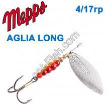 Блесна Mepps Aglia long srebrna-silver 4/17g