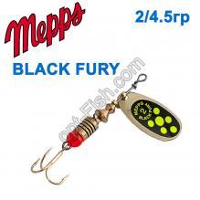 Блесна Mepps Black fury zloty/seledynowe-chartr. 2/4,5g