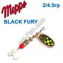 Блесна Mepps Black fury miedz/seledynowe-chartr. 2/4,5g