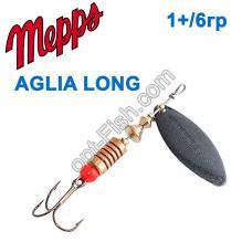Блесна Mepps Aglia long czarna-black 1+/6g